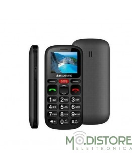 MAJESTIC SENIORPHONE SILENO 30R NERO CON DISPLAY TFT A COLORI