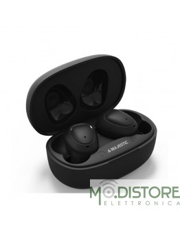 MAJESTIC AURICOLARI WIRELESS BLUETOOTH NERI