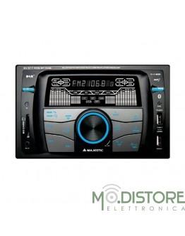 MAJESTIC AUTORADIO DOPPIO DIN RDS FM STEREO + ELETTRONICA DIGITALE PLL SV 517 RDS
