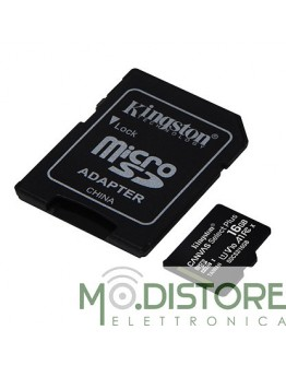 KINGSTON SCHEDA DI MEMORIA MICRO SD 16 GB + ADATTATORE