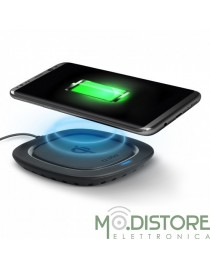 Basetta di ricarica wireless QI certificata, 5W colore nero