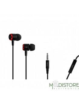 Auricolare filo stereo in-ear Metal Studio Mix 40 con tasto risposta fine/chiamata ,Colore Nero