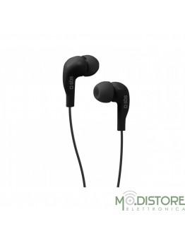 Auricolare in-ear con tasto alla risposta, Jack 3,5 mm , blister Pack , colore Nero