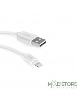 Cavo dati USB 2.0 a Apple Lightning, lunghezza 2 m, colore bianco