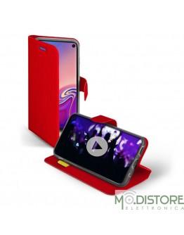 Custodia booksense funzione stand e cradle in TPU per Samsung Galaxy S10, colore rosso