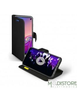Custodia booksense funzione stand e cradle in TPU per Samsung Galaxy S10, colore nero