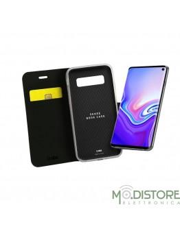 Custodia booksense funzione stand e cradle in TPU per Samsung Galaxy S10 Lite, colore nero