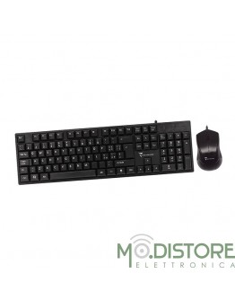 TECHMADE SET TASTIERA USB (LAYOUT ITALIANO) + MOUSE OTTICO 1000 DPI
