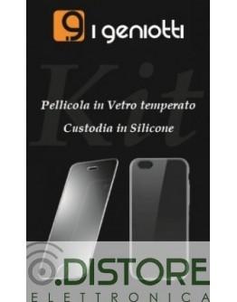 GENIOTTI KIT PELLICOLA + CUSTODIA LG Q60