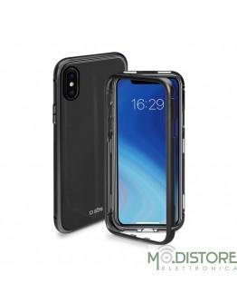 Cover vetro e alluminio chiusura magnetica per iPhone XS Max, colore nero