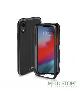 Cover vetro e alluminio chiusura magnetica per iPhone XR, colore nero