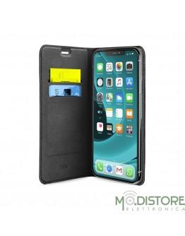 Book Case in PU iPhone XR 2019, nero