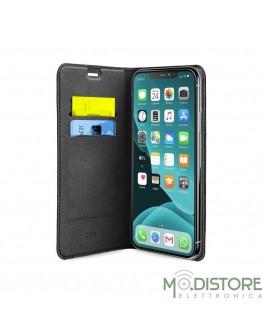 Book Case in PU iPhone XI, nero