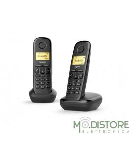 GIGASET TELEFONO CORDLESS A170 DUO NERO