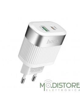 HOCO CARICABATTERIA CON PRESA USB CON SUPPORTO PD+QC 3.0
