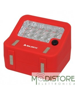 MAJESTIC LAMPADA PORTATILE LED MAGNETICA LP-138 ROSSA
