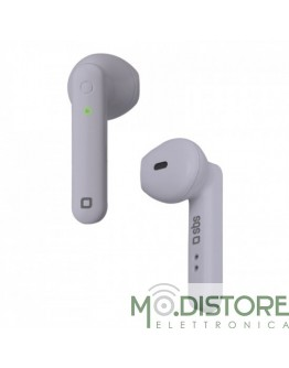Auricolari Stereo Wireless TWS TWIN HOP, con base di ricarica da 300 mAh e comandi integrati, colore violetto