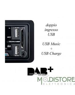 MAJESTIC AUTORADIO RDS FM STEREO DAB+ DOPPIO INGRESSO USB DAB 442BT