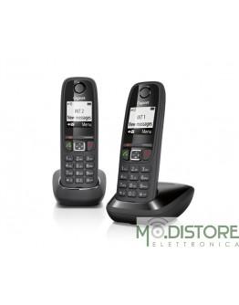 GIGASET TELEFONO CORDLESS AS405 DUO NERO
